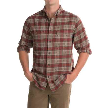 Woolrich Trout Run Flannel Shirt - Long Sleeve (For Men) in Deep Ruby - Closeouts