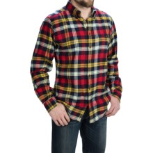 Woolrich Trout Run Flannel Shirt - Long Sleeve (For Men) in Navy Yarn Dye - Closeouts