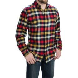 Woolrich Trout Run Flannel Shirt - Long Sleeve (For Men) in Navy Yarn Dye