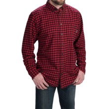 Woolrich Trout Run Flannel Shirt - Long Sleeve (For Men) in Old Red Small Buffalo - Closeouts