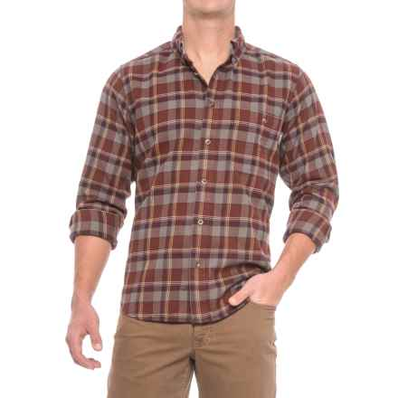 Woolrich Trout Run Flannel Shirt - Long Sleeve (For Men) in Red Wood - Closeouts