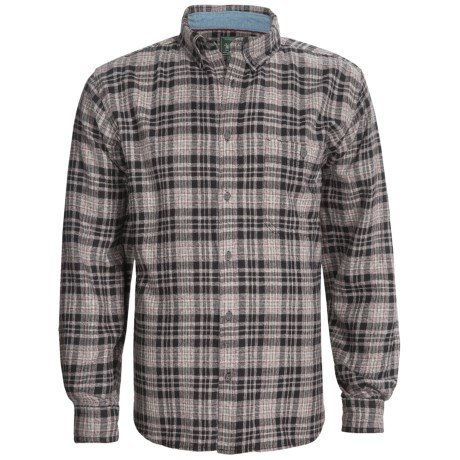 Woolrich Trout Run Flannel Shirt - Long Sleeve (For Men) in Slate