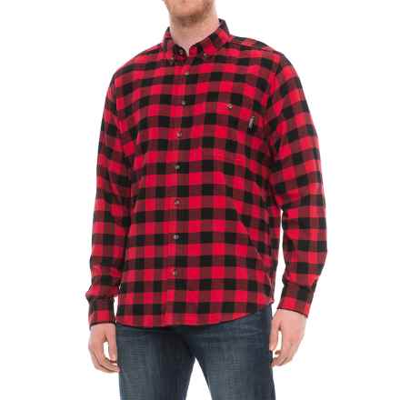 Woolrich Trout Run Plaid Flannel Shirt - Long Sleeve (For Men) in Red Buffalo Check - Overstock