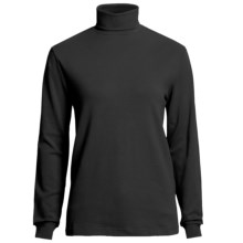 Woolrich Turtleneck Shirt - Interlock Cotton, Long Sleeve (For Women) in Black - Closeouts