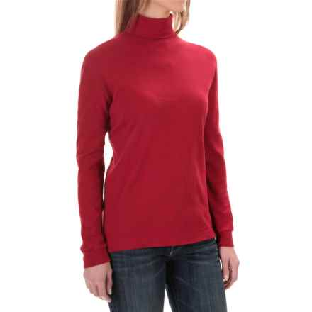 Woolrich Turtleneck Shirt - Interlock Cotton, Long Sleeve (For Women) in Ruby - Closeouts