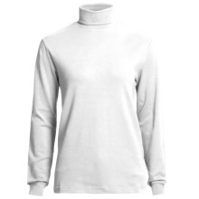 Woolrich Turtleneck Shirt - Interlock Cotton, Long Sleeve (For Women) in Wht White - Closeouts