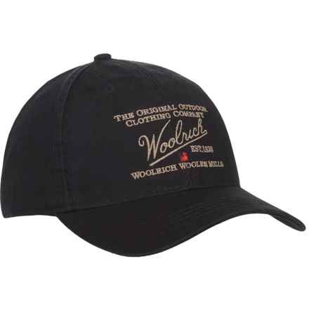 Woolrich Twill Baseball Cap (For Men) in Black - Closeouts
