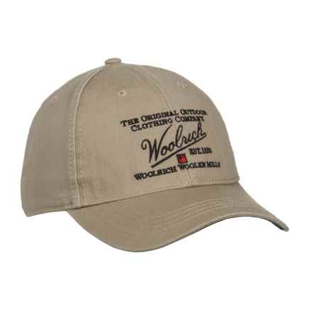 Woolrich Twill Baseball Cap (For Men) in Khaki - Closeouts