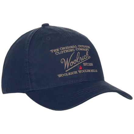 Woolrich Twill Baseball Cap (For Men) in Navy - Closeouts