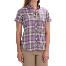 Woolrich Twin Lakes Plaid Shirt - Short Sleeve (For Women) in Grape - Closeouts