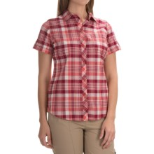 Woolrich Twin Lakes Plaid Shirt - Short Sleeve (For Women) in Hot Guava - Closeouts