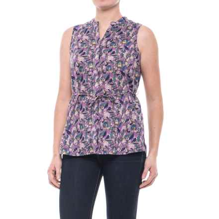 Woolrich Twin Pines Eco Rich Shirt - Organic Cotton, Sleeveless (For Women) in Hydrangea - Closeouts