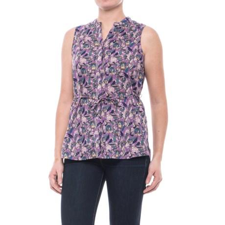 Woolrich Twin Pines Eco Rich Shirt - Organic Cotton, Sleeveless (For Women) in Hydrangea