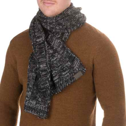 Woolrich Twisted Cable Scarf (For Men) in Slate - Closeouts