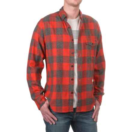 Woolrich Twisted Rich Flannel Shirt - Long Sleeve (For Men) in Old Red - Closeouts