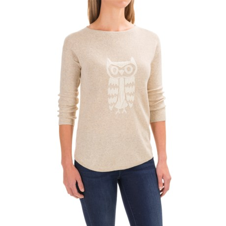 Woolrich Two-Tone Sweater (For Women) in Warm Khaki