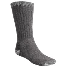 Woolrich Ultimate Boot Socks - Merino Wool, Midweight, Crew (For Men and Women) in Charcoal/Natural - Closeouts