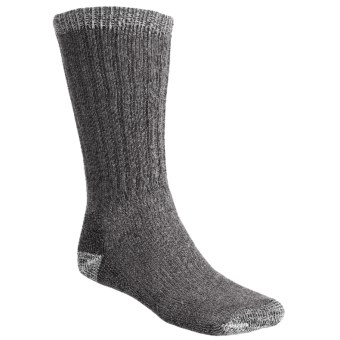 Woolrich Ultimate Boot Socks - Merino Wool, Midweight, Crew (For Men and Women) in Charcoal/Natural
