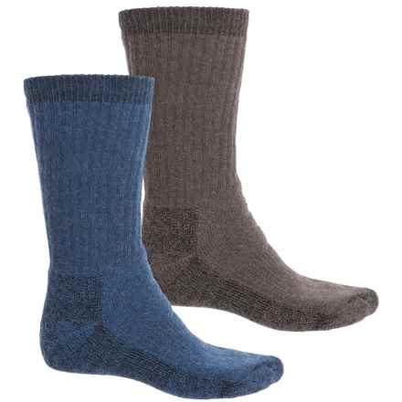 Woolrich Ultimate Socks - 2-Pack, Crew (For Men) in Taupe/Denim - Closeouts