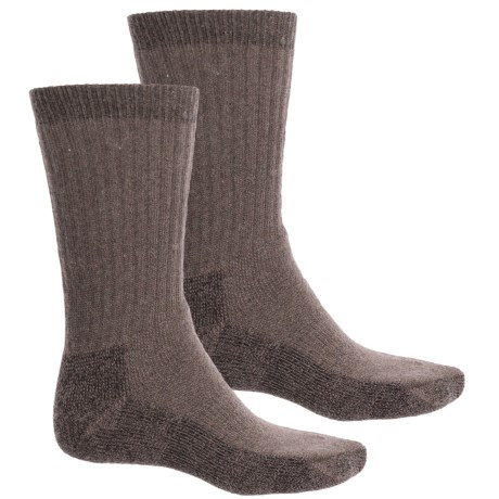 Woolrich Ultimate Socks - 2-Pack, Crew (For Men) in Taupe