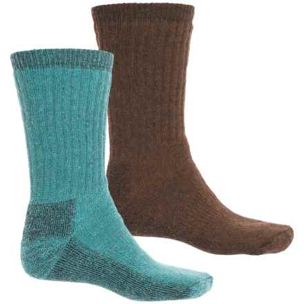 Woolrich Ultimate Socks - 2-Pack, Crew (For Men) in Teal/Brown - Closeouts
