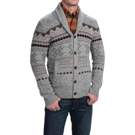 Woolrich Ultra-Line Fair Isle Cardigan Sweater - Button Front, Wool (For Men) in Gray Heather - Closeouts
