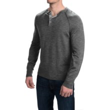 Woolrich Understory Henley Sweater - Merino Wool (For Men) in Coal Heather - Closeouts
