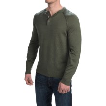 Woolrich Understory Henley Sweater - Merino Wool (For Men) in Field Gray Heather - Closeouts