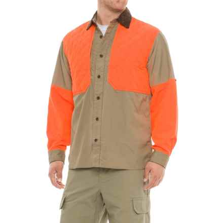 Woolrich Upland Shooter Shirt - Long Sleeve (For Men) in Khaki - Closeouts