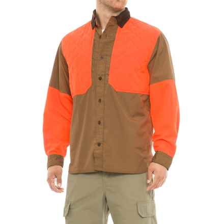 Woolrich Upland Shooter Shirt - Long Sleeve (For Men) in Sediment - Closeouts