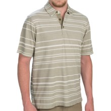 Woolrich Upstate Striped Polo Shirt - Short Sleeve (For Men) in Laurel - Closeouts