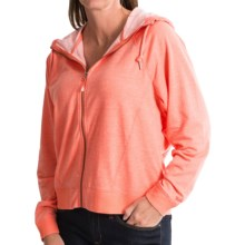 Woolrich Uptown Hoodie - Full Zip (For Women) in Guava Heather - Closeouts