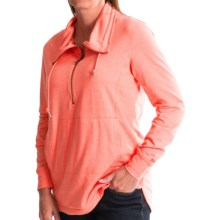 Woolrich Uptown Popover Shirt - Zip Funnel Neck, Long Sleeve (For Women) in Guava Heather - Closeouts