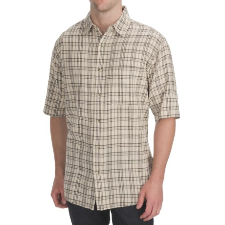 Woolrich Upwind Shirt - Short Sleeve (For Men) in British Tan