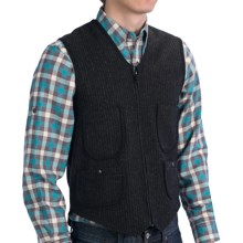 Woolrich Utility Vest - Wool Blend (For Men) in Black/Grey - Closeouts