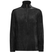 Woolrich Velour Zip Turtleneck - Stretch, Long Sleeve (For Women) in Black - Closeouts