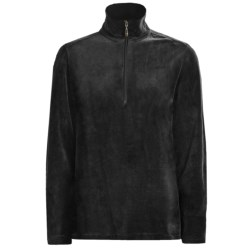 Woolrich Velour Zip Turtleneck - Stretch, Long Sleeve (For Women) in Black