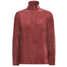 Woolrich Velour Zip Turtleneck - Stretch, Long Sleeve (For Women) in Dark Ruby - Closeouts