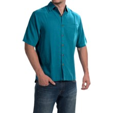 Woolrich Vireo II Modal Dobby Shirt - Short Sleeve (For Men) in Nordic Blue - Closeouts