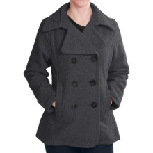 Woolrich Vista Pea Coat - Wool, Double Breasted (For Women) in Onyx - Closeouts