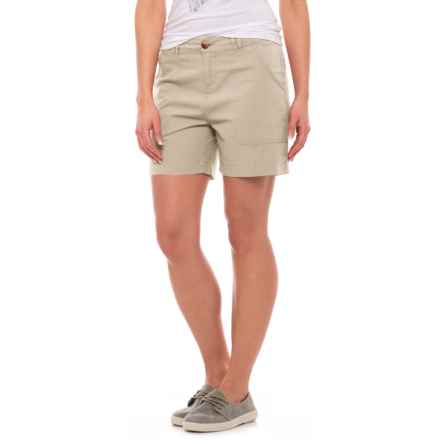Woolrich Vista Point Shorts - Organic Cotton (For Women) in Stone - Closeouts