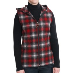 Woolrich Vista Vest - Wool, Hooded (For Women) in Old Red Plaid