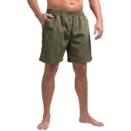 Woolrich Wading Waters Solid Swim Trunks (For Men) in Field Gray - Closeouts