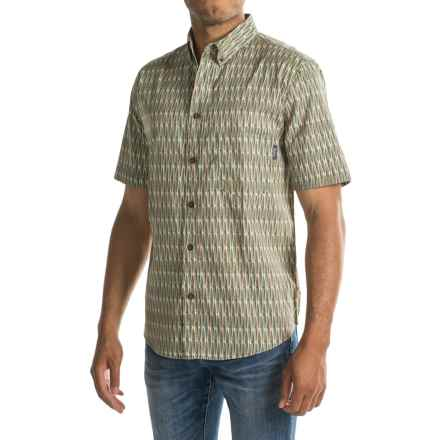 Woolrich Walnut Run Printed Shirt - Short Sleeve (For Men) in Field Gray Kayak - Closeouts