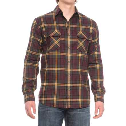 Woolrich Washable Flannel Shirt - UPF 50, Roll-Up Long Sleeve (For Men) in Dark Plum - Closeouts