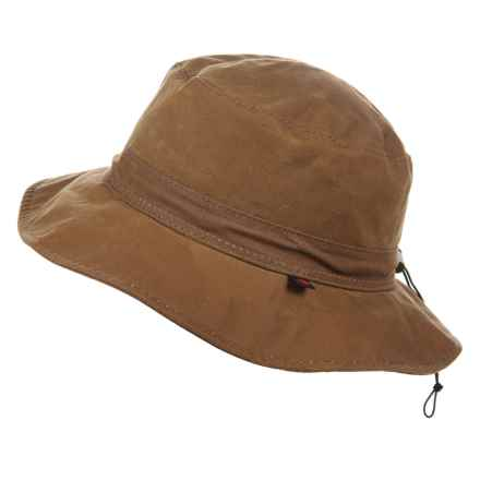 Woolrich Waxed-Cotton Bucket Hat (For Men) in Saddle - Closeouts