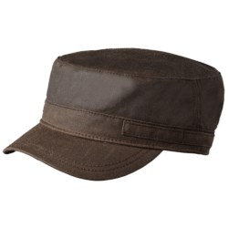 Woolrich Waxed Cotton Cadet Cap - Fleece Lining (For Men) in Tan
