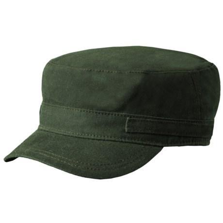 Woolrich Waxed Cotton Cadet Cap - Fleece Lining (For Men) in Moss