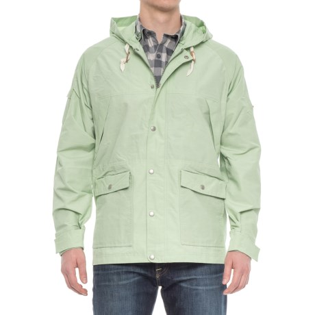 Woolrich Waxed Heritage Hooded Jacket (For Men) in Sprout