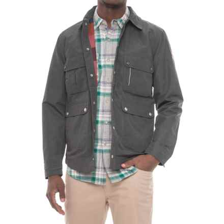 Woolrich Waxed Heritage Mint Shirt Jacket - Snap Front (For Men) in Asphalt - Closeouts